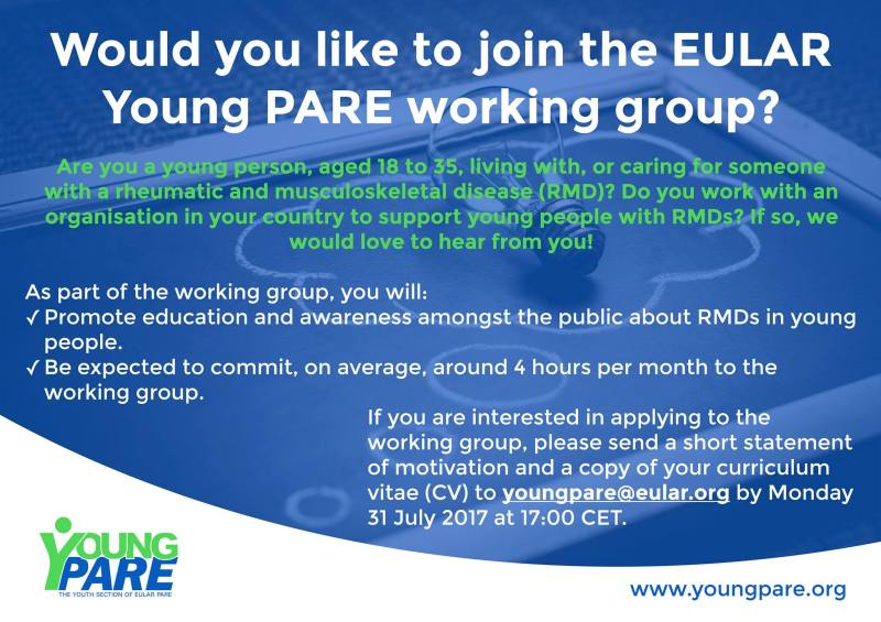Join The EULAR Young PARE Working Group